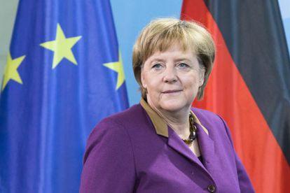 La canciller alemana Angela Merkel en Berlín.