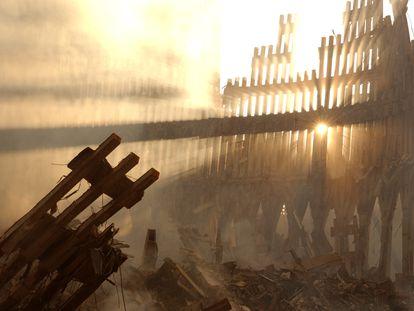 La zona cero del World rade Center, mostrado en la serie documental '11-S. Testigos de la tragedia'.