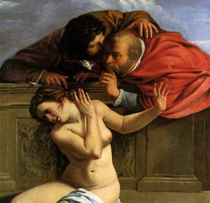 'Susana y los viejos' (Artemisia Gentileschi 1610).