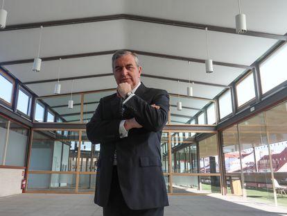 Sigfredo Herraez,, en la azotea de la sede del COAM.