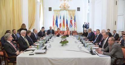 Reunión en Viena de las grandes potencias e Irán para el pacto nuclear.