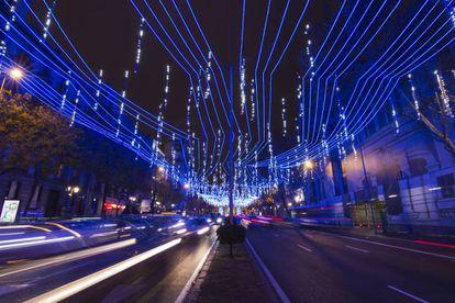 Imagen de la iluminación navideña de Madrid del año pasado.
