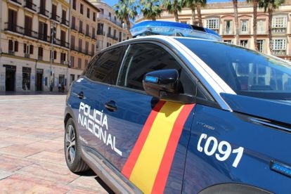 Vehículo de la Policía Nacional en Málaga.