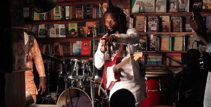 Un concierto en la librería Jazzhole de Lagos, en Nigeria.