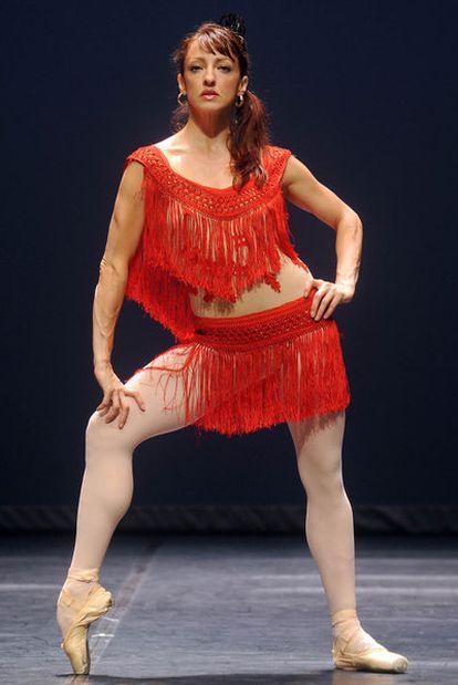 Lorena Feijóo, del Cuban Classical Ballet of Miami, durante el ensayo en El Escorial.