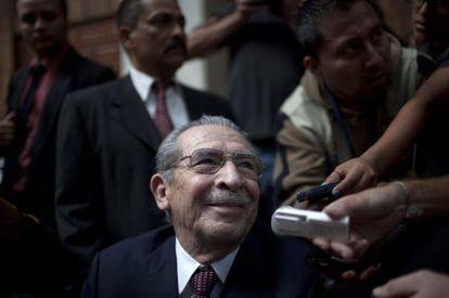 José Efraín Ríos Montt hoy en la Corte Suprema de Guatemala.
