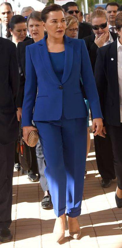 Lalla Hasna en la Conferencia del Clima celebrada en Marrakesh en 2016.