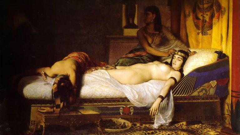 'La muerte de Cleopatra' (1874), de Jean André Rixens.