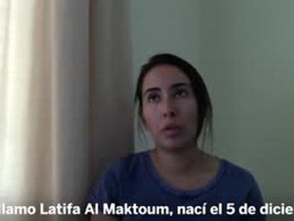 Fotograma del vídeo divulgado en 2018 por la propia Latifa Mohamed al Maktum, hija del emir de Dubái.