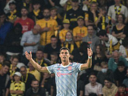 Cristiano Ronaldo, durante el partido del Manchester United contra el Young Boys.