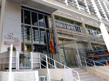 Sede de la empresa pública Vaersa en Valencia.