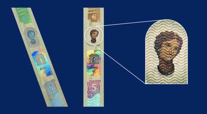 Motivos relativos a la princesa Europa para los nuevos billetes en euros.