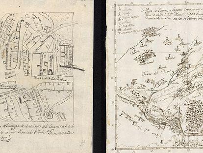 Mapas realizados por los párrocos de Cerecinos del Carrizal y Coreses (Zamora), a petición del geógrafo real Tomás López
