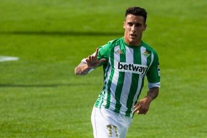 Tello celebra su primer gol al Elche de la pasada jornada.