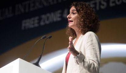 Maria Jesús Montero, ministra de Hacienda en funciones