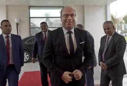 El primer ministro de Túnez, Elies Fajfaj, este miércoles antes de su dimisión.