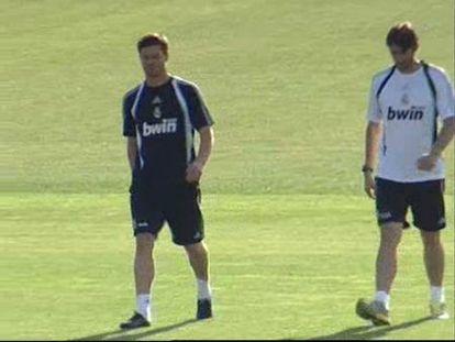 Primer entrenamiento de Xabi Alonso como madridista