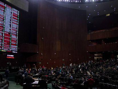 La Cámara de Diputados de México.