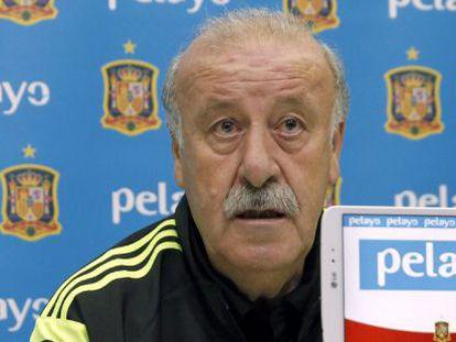 El seleccionador español Vicente del Bosque.