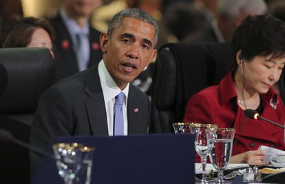 El presidente estadounidense, Barack Obama, asiste a la IV Cumbre de Seguridad Nuclear en Washington.