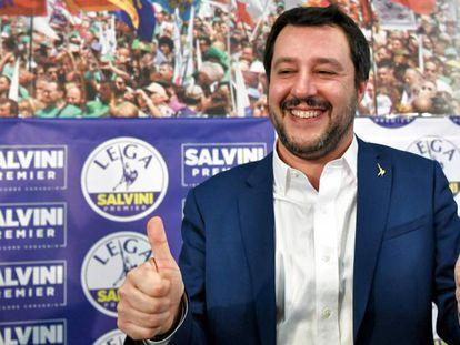 El líder de la Liga Norte, Matteo Salvini, en Milán, el pasado 5 de marzo.