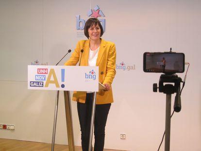 Ana Pontón, líder del BNG, analiza los resultados de las elecciones del 12-J.