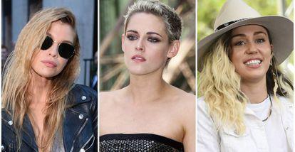 Stella Maxwell, Kristen Stewart y Miley Cyrus.