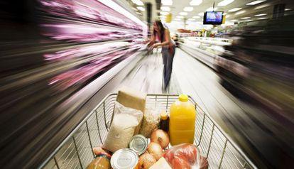 Carro del supermercado.