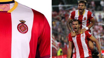 A la derecha de la imagen, el ariete Christian Stuani, uno de los nuevos fichajes del Girona en su primera temporada en la Liga Santander.