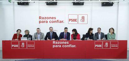 Pedro Sánchez preside la reunión de la ejecutiva socialista este martes 8 de enero.