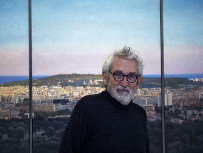 Oscar Tusquets en la galeria Ignacio de Lassaletta de Barcelona.