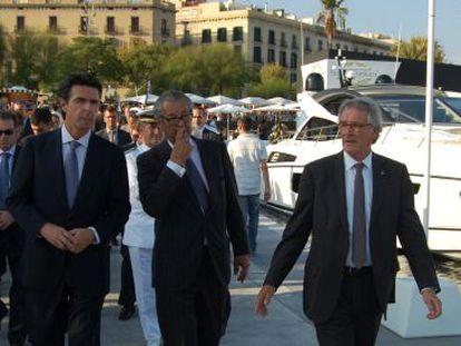 (De izq. a der.) Jaime Muñoz-Delgado, José Manuel Soria, Luis Conde y Xavier Trias, en la inaguración del Salón Náutico.