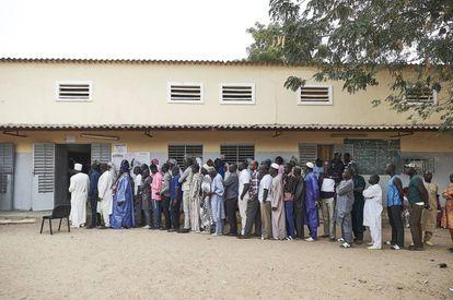 Colas electorales en Dakar