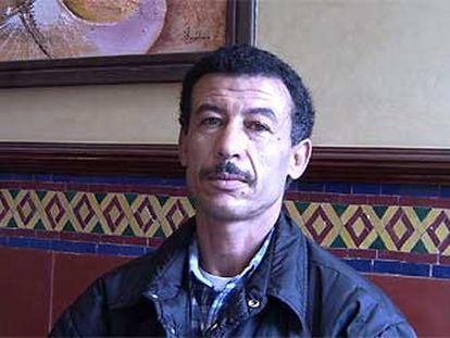 Abdellah Lamani, ex preso marroquí del Polisario, la semana pasada, en Casablanca.