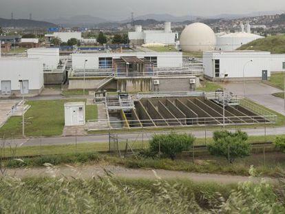 La planta depuradora de Sant Feliu de Llobregat.