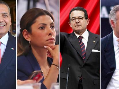 Desde la izquierda: Manlio Fabio Beltrones, Sylvana Beltrones, Francisco Arroyo Vieyra y Juan Collado.