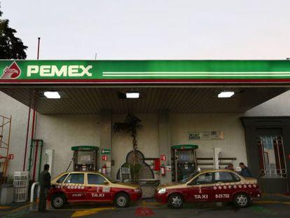 Una estación de servicio de Pemex en la Ciudad de México.