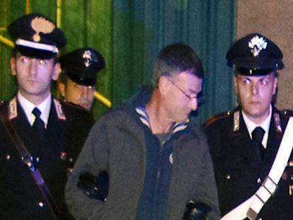 Massimo Carminatti, tras ser detenido en 2014 durante la Operación 'Mafia Capitale' en Roma.