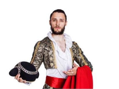 Bullfighting hipster anyone? The photo used by 'The Sunday Times' to illustrate the story.