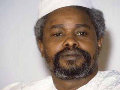El antiguo dictador chadiano Hissène Habré, en 1987 en Yamena.