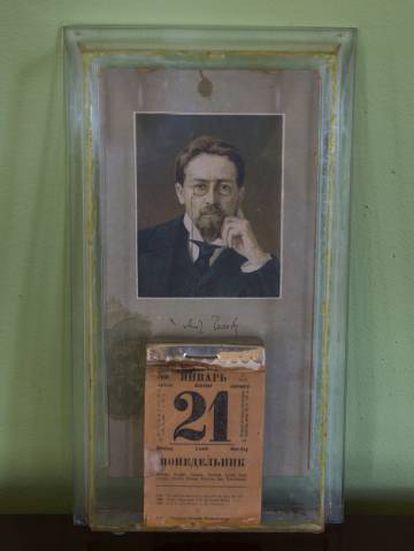 Calendario de Lenin parado el 21 de enero de 1924, día de su muerte.