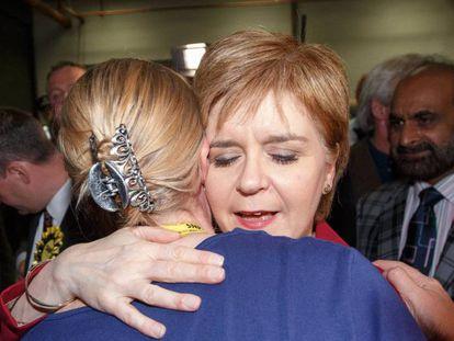 Sturgeon, este viernes en Escocia.