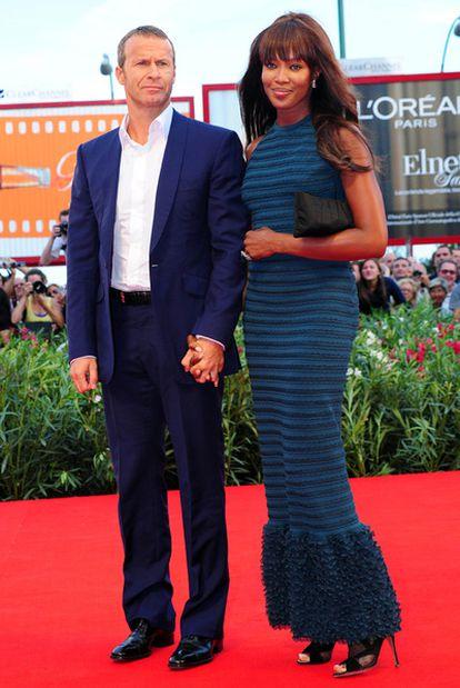 Naomi Campbell, con su novio.