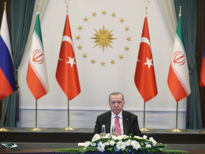 El presidente turco, Recep Tayyip Erdogan, el 1 de julio en Ankara.