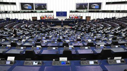 El pleno del Parlamento Europeo en Estrasburgo.