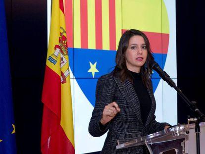 La candidata de Ciutadans, Inés Arrimadas, esta semana en Bruselas.