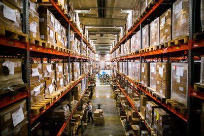 Un almacén secreto de Finlandia en una foto cedida por el Centro Nacional de Abastecimiento de Emergencia.