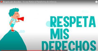 Imagen de la campaña de la Plataforma de la Infancia, el Ministerio de Bienestar Social y Yo Soy Ratón.