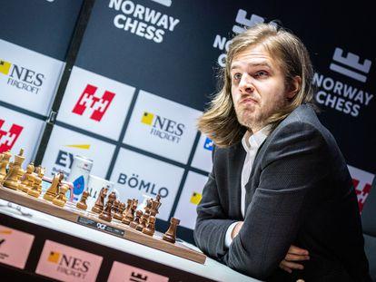 Richard Rapport, durante la partida de este martes en Stavanger (Noruega)