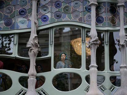 La Casa Batlló, uno de los lugares más visitados por los turistas en Barcelona.